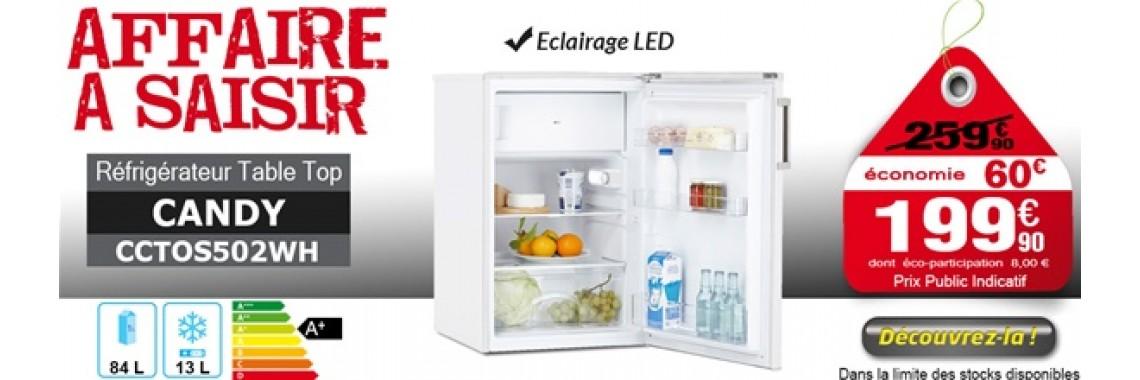 Réfrigérateur table top 1,2,3 ou 4* CANDY - CCTOS502WH