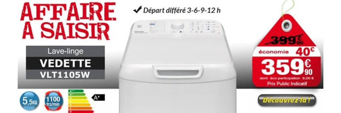Lave-linge top VEDETTE - VLT1105W