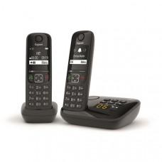 Téléphone résidentiel avec répondeur GIGASET - AS690ADUONOIR pas cher