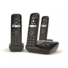 Téléphone résidentiel avec répondeur GIGASET - AS690ATRIONOIR pas cher