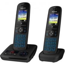 Téléphone Duo fixe sans fil bloqueur appels publicitaires PANASONIC KX-TGH722FRB pas cher