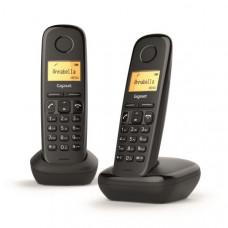 Téléphone résidentiel sans répondeur GIGASET - A170DUONOIR pas cher