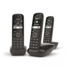 Téléphone résidentiel sans répondeur GIGASET - AS690TRIONOIR pas cher